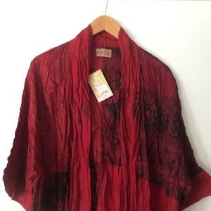 Jackets & Blazers - Beautiful red and black kimona by Green Sewn